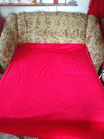 Kanapa+2 fotele+2 pufy rozkładane komplet wypoczynkowy TINA