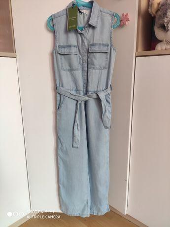 Reserved Nowy jeansowy kombinezon 134