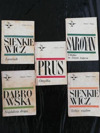 """Seria""""KOLIBER""""5 książek!SienkiewiczLATARNIK,Prus,Dąbrowska,Saroyan!"""