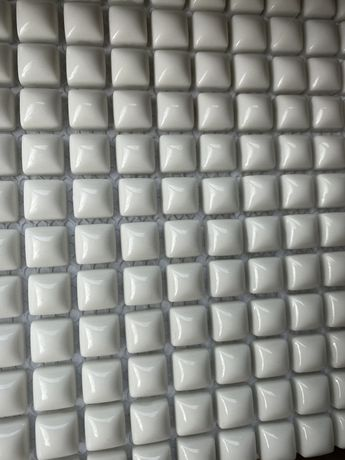 Mozaika szklana biała Tubądzin