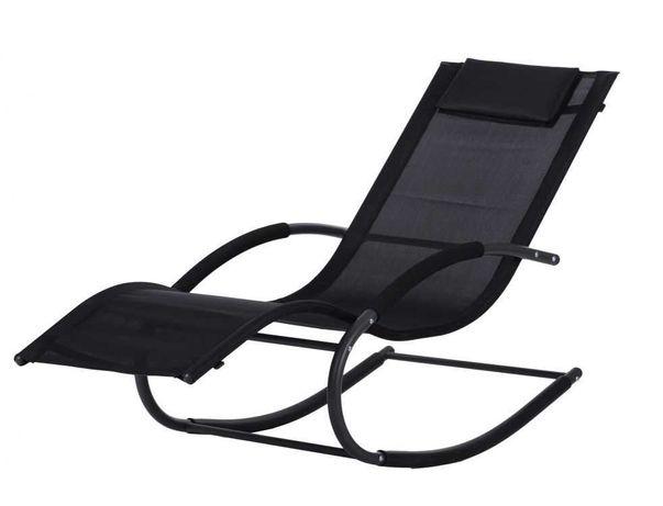 Leżak ogrodowy bujany leżanka fotel