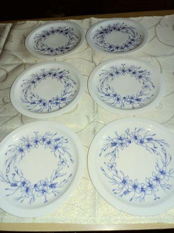 Talerzyki deserowe-recznie malowane porcelanowe WAWEL