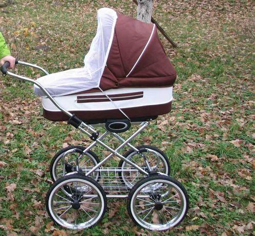 Коляска классическая 2 в 1, надувные колеса, амортизация