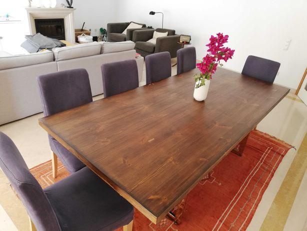 Mesa de jantar grande com +50% de desconto