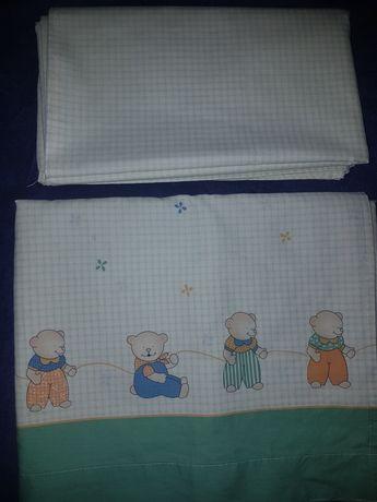 Conjunto lençóis para cama de criança