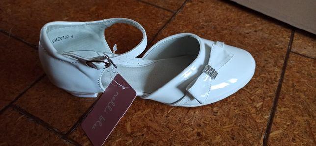 Buty białe komunijne dla dziewczynki rozm. 37