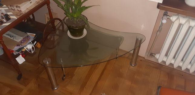 Stolik, ława szklana rozkładany, bardzi ładny