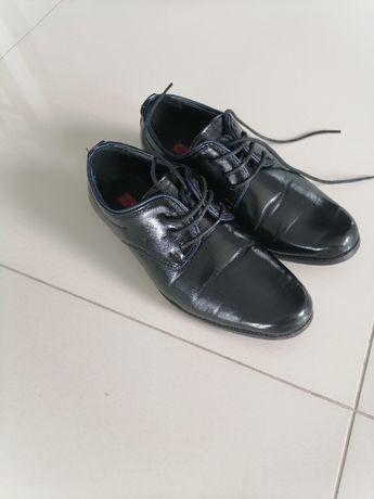 Buty czarne Komunia garnitur, alba r. 32/33