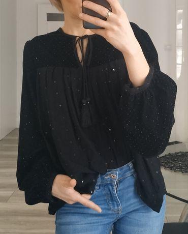 Zara nowa aksamitna bluzka rozmiar s
