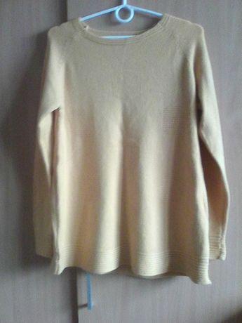 sweter żółty
