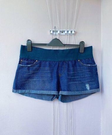(р.L-XL) Джинсовые шорты для беременных джинсы штаны брюки