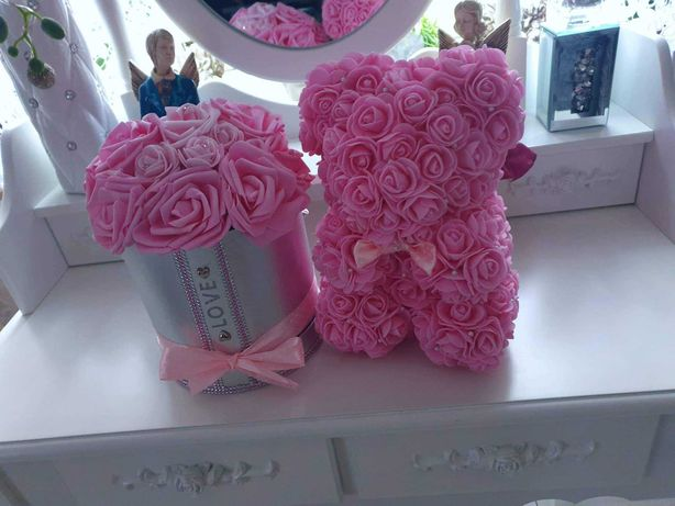 Flower Box+Miś idealny na prezent