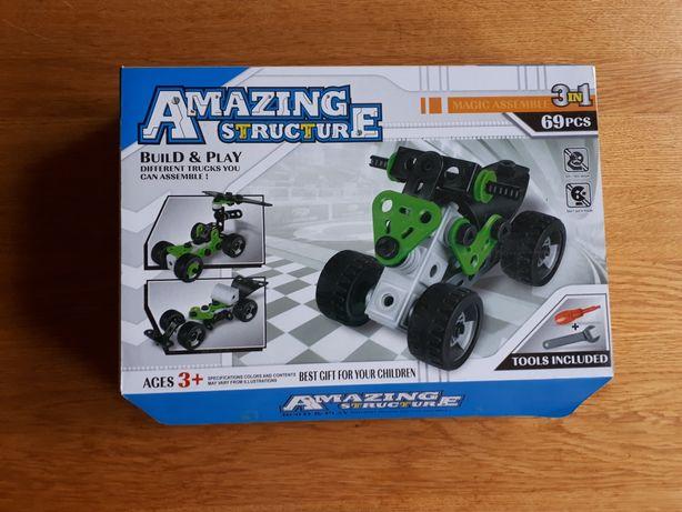 Amazing Structure 3+ zestaw konstrukcyjny nowy 3w1 pojazd