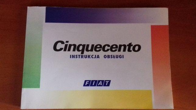 CInquecento instrukcja obsługi FIAT!!