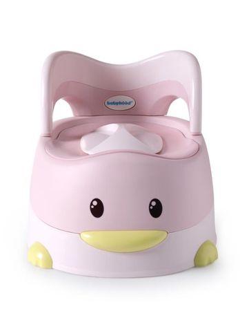 Детский горшок Утёнок с полиуретановым кольцом, розовый - Babyhood