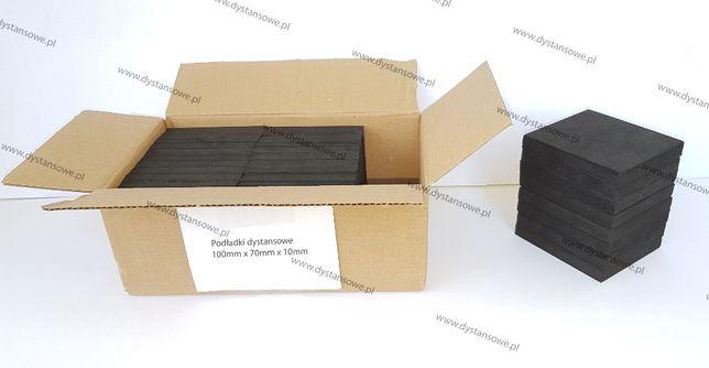 Podkładki gumowe tarasowe, pod taras 10cm x 7cm x 10mm szybka wysyłka