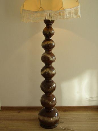 Lampa podłogowa ceramika szkliwiona Polska lata 60-te