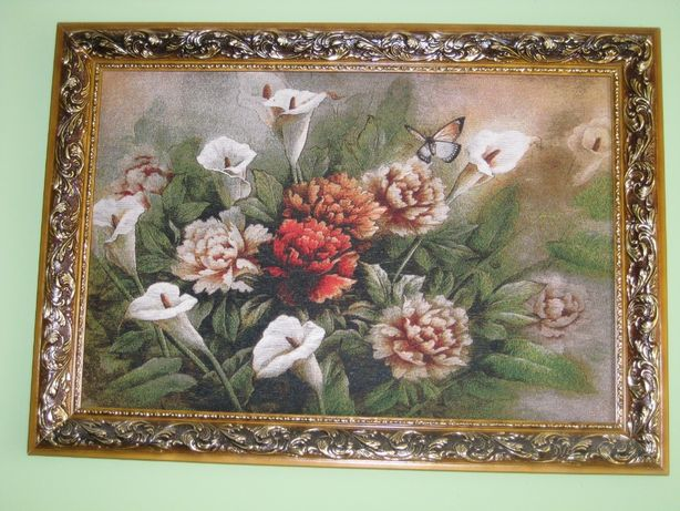 Фантастична картина, квіти на полотні
