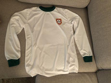 Camisola selecao de portugal 1966 branca e verde