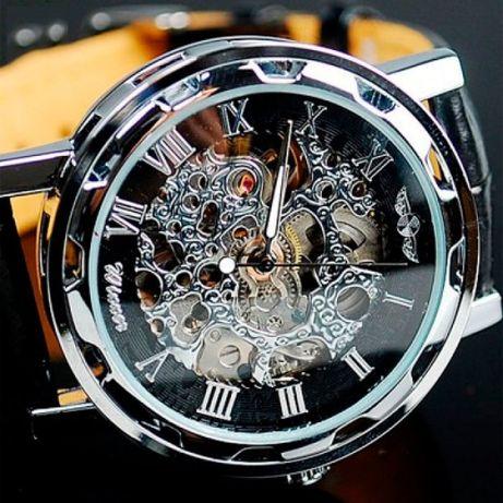 Акция!!! Мужские наручные механические часы Winner Black/Универсальные
