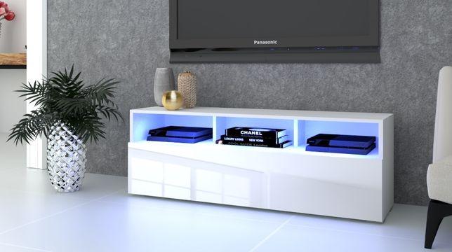 Biała Sonoma Craft Komoda Szafka RTV Stojąca Wisząca Play Open Połysk