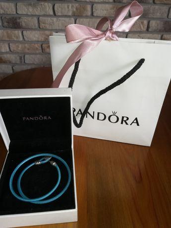 Pandora bransoletka skórzana
