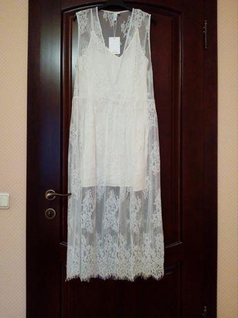 Свободное кружевное платье бренда Other stories