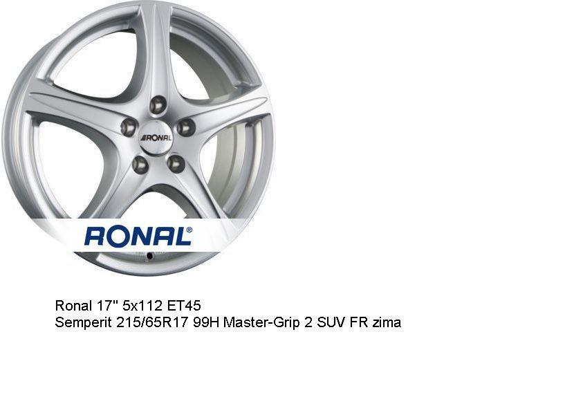 Nowe koła zimowe 4x alu Ronal 17'' 5x112 ET45 Semperit Vw Skoda Seat Rawa Mazowiecka - image 1