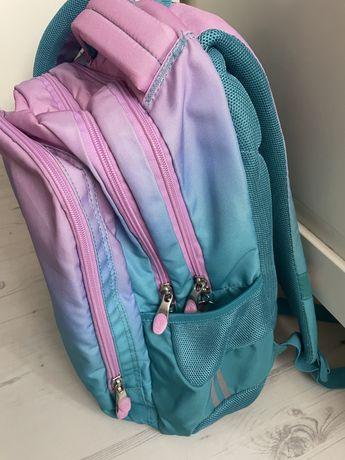 Plecak St. Right 3 komorowy kolor Ombre fioletowo- różowy