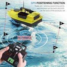 Łódka zanętowa GPS z 3 pojemnikami na przynęty