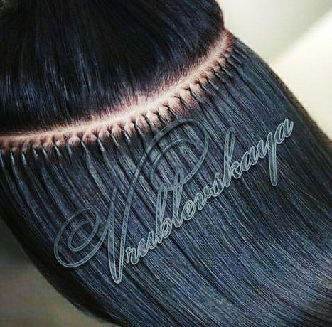 Наращивание волос Нано капсулками.Коррекция.Киев.