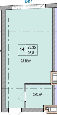 Продам квартиру в новом доме возле метро 4 мин за 30500