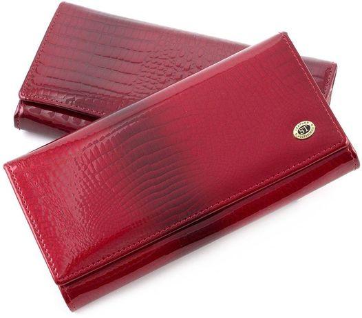 Женский кожаный кошелек ST New Премиум цвет бордовый.синий из турция.