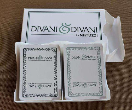 Dois Baralhos de cartas Divani&Divani - Novos