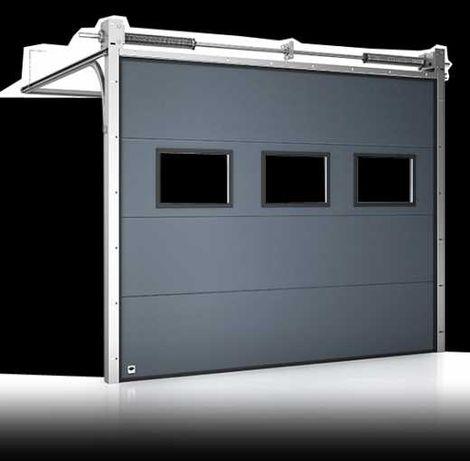 Brama Garażowa Segmentowa Panelowa Przemysłowa Uchylna na Pilota