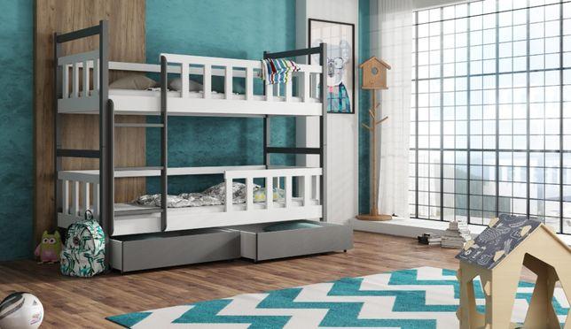 Nowe dwu osobowe łóżko piętrowe WOJTEK 9! Materace w zestawie