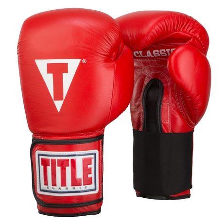 Перчатки боксерские TITLE 14 - 18 OZ, перчатки для бокса тренировочные