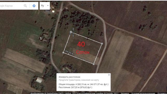 Земельный участок в с. Абрамовка, Киевская область, 40 соток