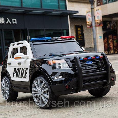 Детский электромобиль Джип M 3259, Ford Police, колеса EVA, кожа