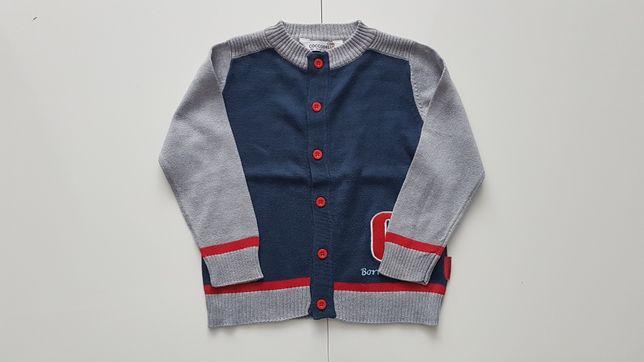Sweter rozpinany Coccodrillo rozmiar 92 (2 latka) Stan: JAK NOWY !!!