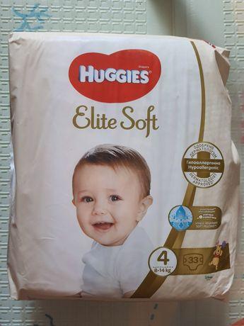 Подгузники Huggies elite soft 4, 33 шт