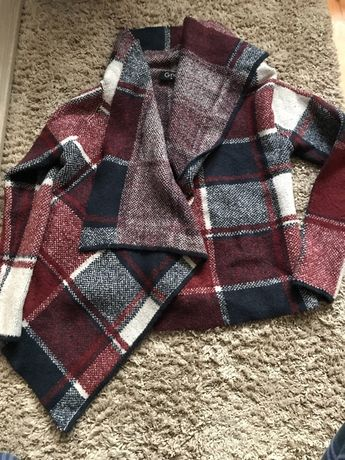 Sweter kurtka cardigran krotki kratz 38