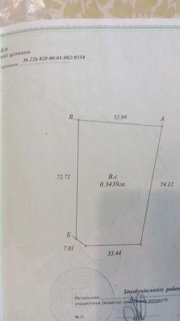 Земельна ділянка 0,34га в с. Здовбиця по вул. Шосова