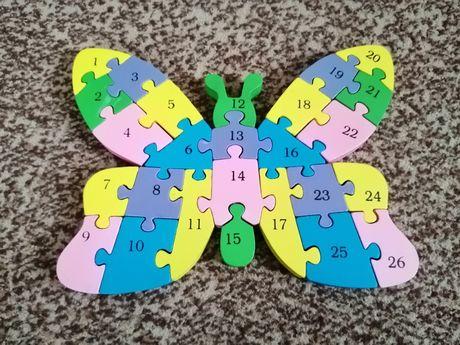 Drewniane puzzle MOTYL
