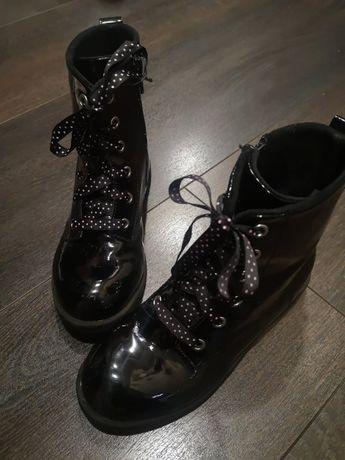 Демисезонные лакированные ботинки НМ для девочки, размер 33 (20.5см)