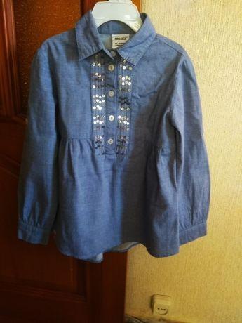 Продам нарядную блузу-рубашку на девочку 5-7лет