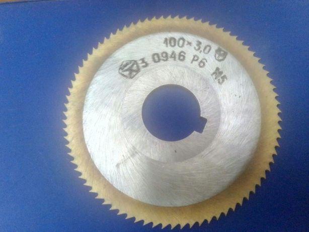 Фреза дисковая Р 6 М 5 100 х 3,0 СССР износостойкая карбид титана