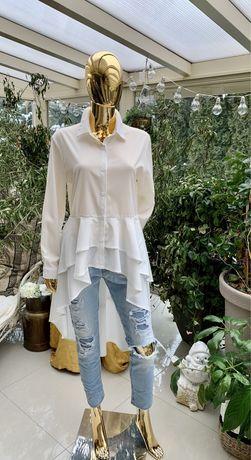 Koszula biala i czarna rozmiar M