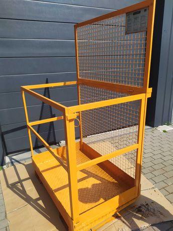 Platforma robocza Premium, niemiecka EUROKRAFT do wózka widłowego