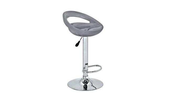 Krzesło hoker barowy tapicerowany chrom